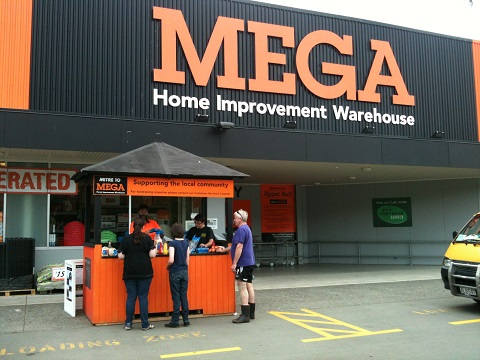 Trust fundraiser at Mega Mitre 10, Upper Hutt