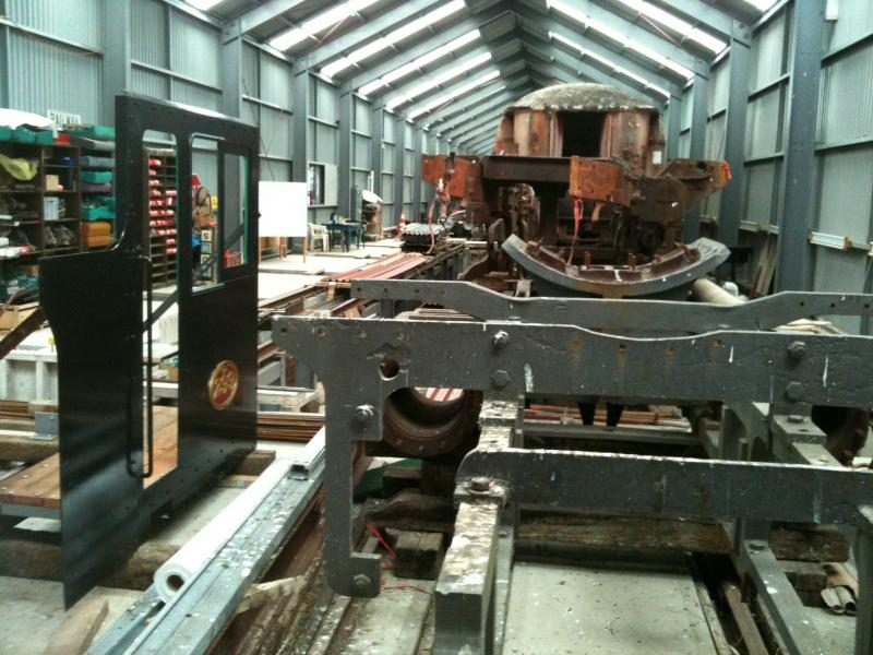 Another view of the cab and bunker side assembly inside the shed at Maymorn on 22 November.