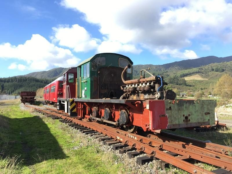 Ex Ohai Railway Board #1 part way through rebuilding - engine hood, diesel tank, radiator and many other items removed for repair