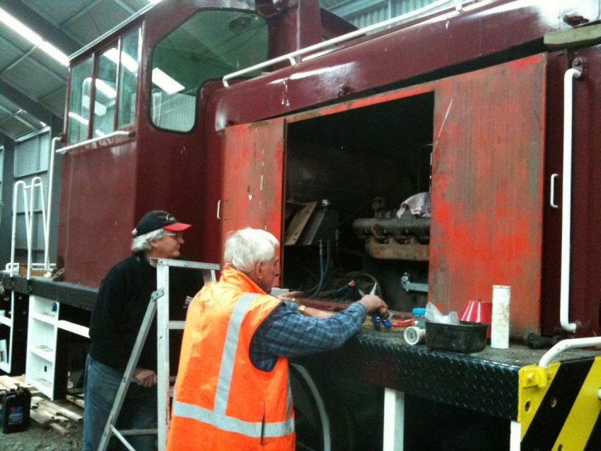 Glenn and Lionel problem-solving next steps with diesel engine